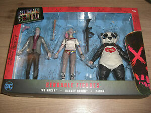 The Joker Panda 14 Cm Gerade Suicide Squad Biegefiguren 3erpack Harley Quinn