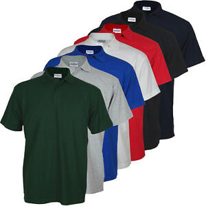 New-Mens-Pique-Polo-T-Shirts-Work-Casual-Sport-Tee-Leisure-Top