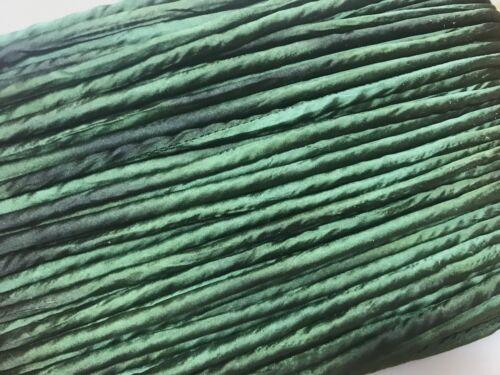 "PIPING 1//4/"" Hand Dyed SILK TUBING 1yd Edging BIAS Made in USA Chameleon"
