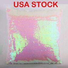 10pcs Pink 3d Sublimation Blank Reversible Mermaid Pillow Case Sequin Glitter