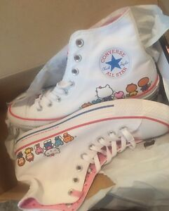 7017681f26ca6d Converse Chuck Taylors X Hello Kitty-Women s Size 9.5 Men s Size 7.5 ...