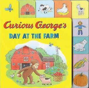 Curious-George-039-s-Day-at-the-Farm-Tabbed-Lift-the-Flap-by-H-A-Rey-Board