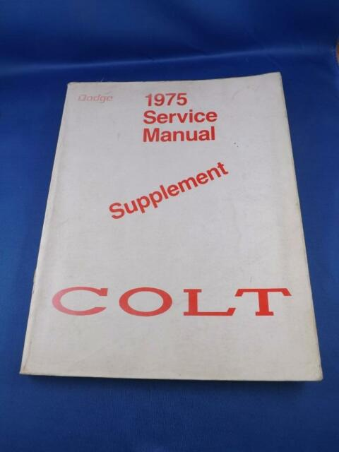 1975 Colt Service Manual Supplement Chrysler Car Fold Out