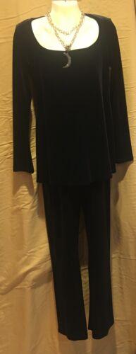 Pantaloni set in e nero velluto di lunghe maternità maniche HnHPfqWr