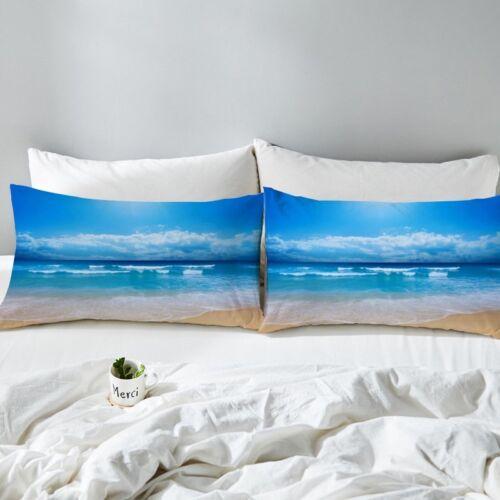 1 Pair Unique Beach And Ocean Pillowcase Printed Bedding DZ710