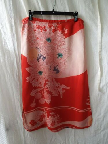 French Connection Silk Skirt Japanese Floral Print