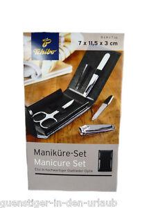 TCM Tchibo Maniküre Set im schwarzen Etui 4 tlg. NEU | eBay