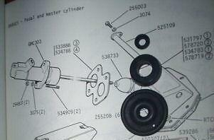 1958-68 Ser 1-5 Maître-cylindre Réparation Joints Kit Humber Super Snipe