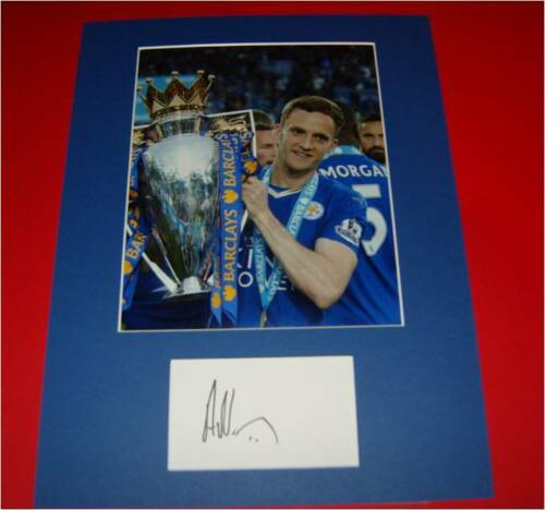 Andy King Leicester City Autographed signed card & photo mount COA AFTAL