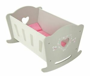 Chad Valley Babies to Love Wooden Doll Crib Is Perfect For Role-Playing Fun NEW