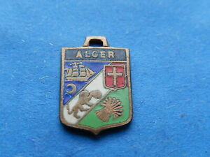 Medaille ARMOIRIES pendentif  BLASON VINTAGE ALGER ALGERIE INDEPENDANCE  THFR