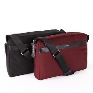 8961d2116a4c NWT Michael Kors Men's KENT Large EW Zip Nylon Messenger Bag -Black ...