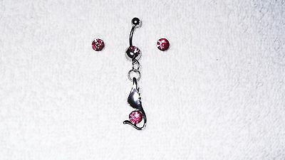 Pink Hot Lips Belly Button Navel Ring Body Jewelry Piercing 14g Sale