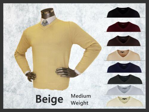 NUOVI Pantaloncini Uomo Semplice Maglione Scollo a V ▍ Work /& Business Maglieria ferma fit caldo Pullover