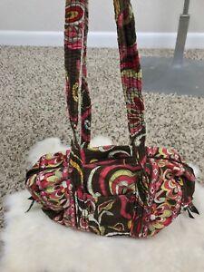 Vera-Bradley-Woman-Tote-Bag-Shoulder-Handbag-Multi-Color-Purse-Cotton-USA-Small