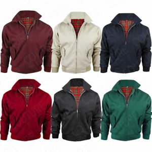 5646164c9 Details about Harrington Jacket With Tartan Lining British Made Mens Zip Up  Classic Bomber New