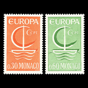 Monaco-1966-EUROPA-Stamps-Sc-616-7-MNH