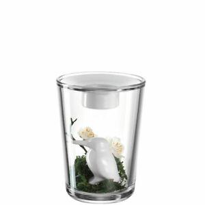Leonardo-Vase-mit-Teelicht-und-Vogel-Figur-Pepe-Dekovase-Tischlicht-Spring-Neu