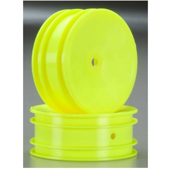 RC10B4.2 Team Associated 91573 61mm Front 2WD Buggy Wheels yellow