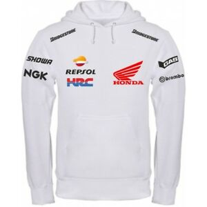 Sweatshirt Honda Hrc White Black Polo Shirt T Shirt Neck Warmer Ebay