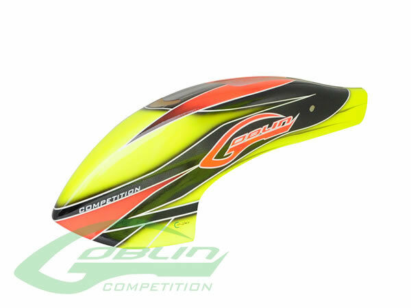 Canomod Airbrush Canopy Yellow orange - Goblin 700 Comp
