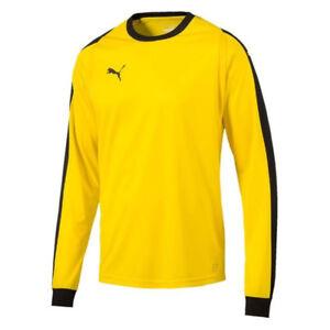 PUMA-Men-039-s-Liga-Goalkeeper-Jersey-Yellow-703442-07