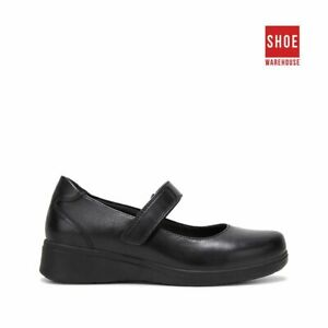 Hush Puppies THE ONE BAR Black Womens Mary-jane Corporate Leather Shoes