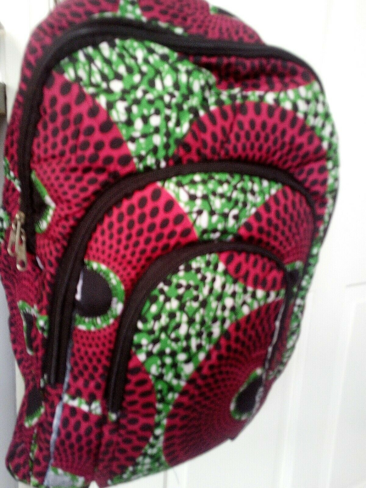 African Print Backpack. New