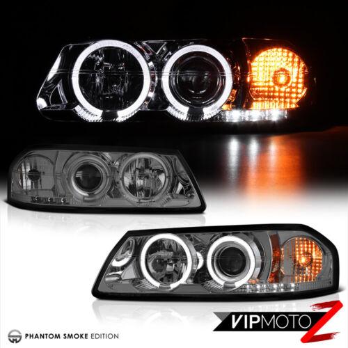 00-05 Impala New pair Left+Right Smoke Projector Headlight+Dual Halo Angel Eyes