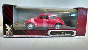 Yat Ming 1:18 Die Cast Metal Collection 1967 Volkswagen Beetle Red NIB#92078