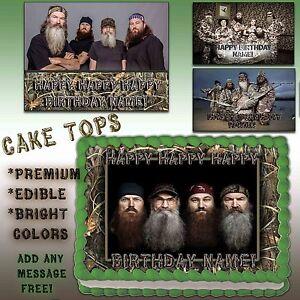 Fine Duck Dynasty Cake Edible Topper Photo Image Icing Happy Birthday Personalised Birthday Cards Veneteletsinfo
