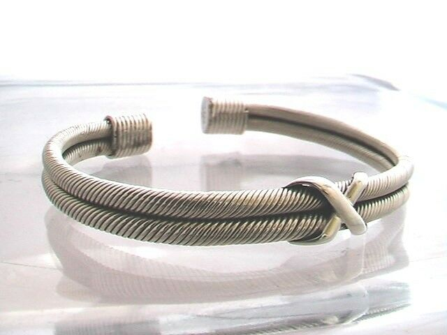 HighQ 925 Sterling Silver File Pattern Bohemian Cuff Bracelet Open woman