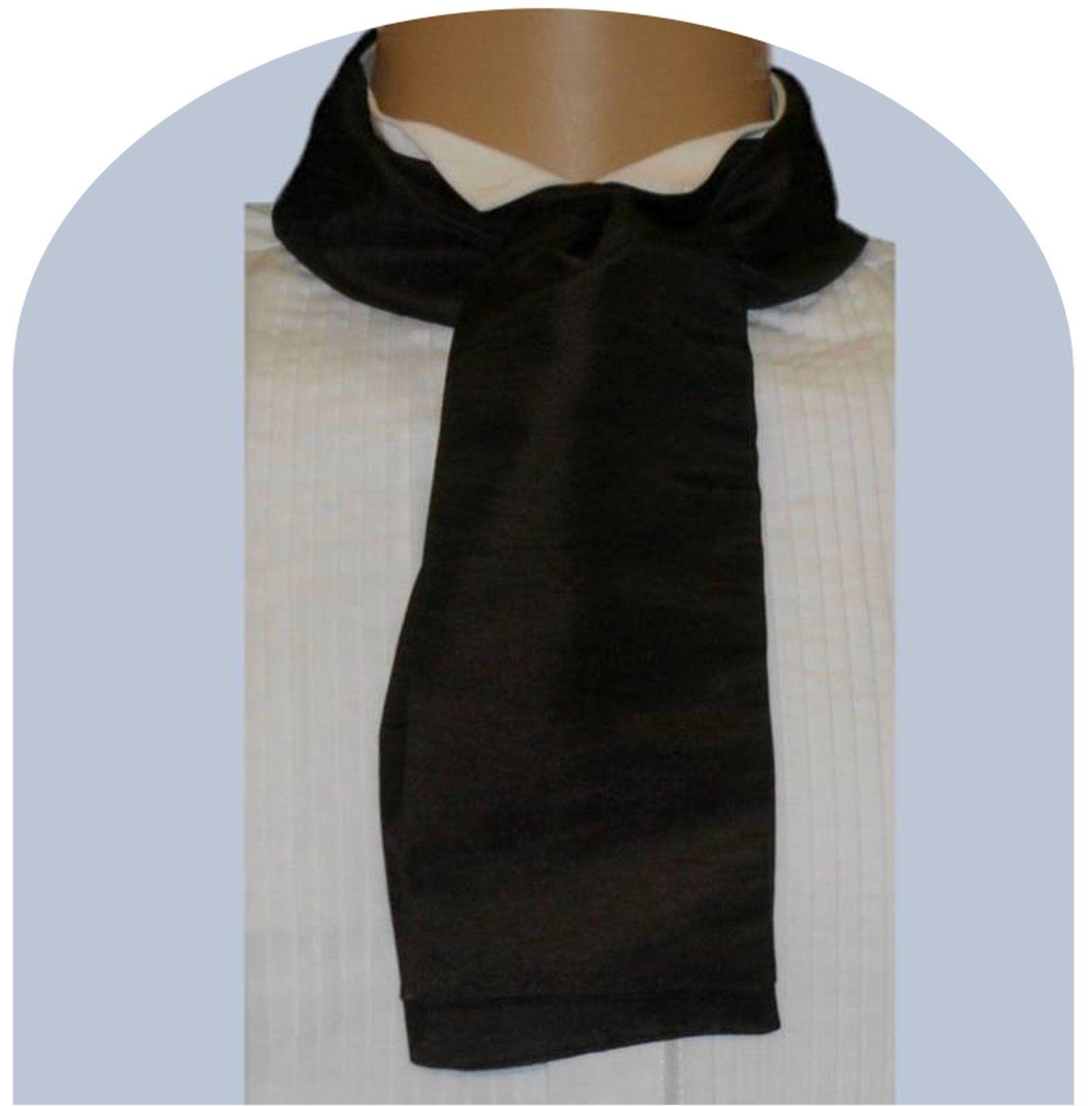 Black cravat Victorian Edwardian Georgian Regency costume fancy dress taffeta