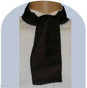BLACK-CRAVAT-VICTORIAN-EDWARDIAN-GEORGIAN-COSTUME-FANCY-DRESS