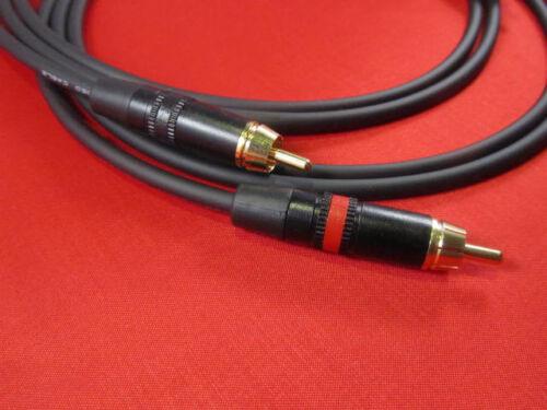 3/' Mogami 2964 SPDIF 75 Ohm Dual Superflexible Cable w// Neutrik Gold RCA.