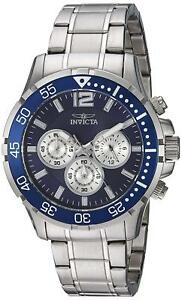 Invicta-23664-Specialty-Men-039-s-45mm-Chronograph-Stainless-Steel-Blue-Dial-Watch