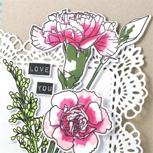Flower Transparent Stamps Metal Cutting Dies Stencils Embossing Crafts Decor