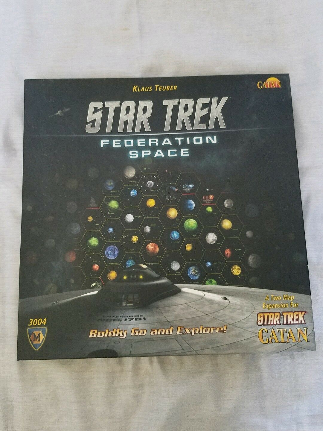 Star Trek Federation Space- Two Map Expansion Star Trek Catan Preowned Complete