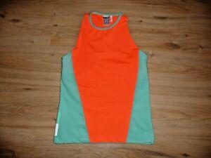 Adidas Dames Sporttop Stella Mccartney Taille L Neon Orange/bleu Sarcelle Neuf-n Neuafficher Le Titre D'origine éLéGant Et Gracieux