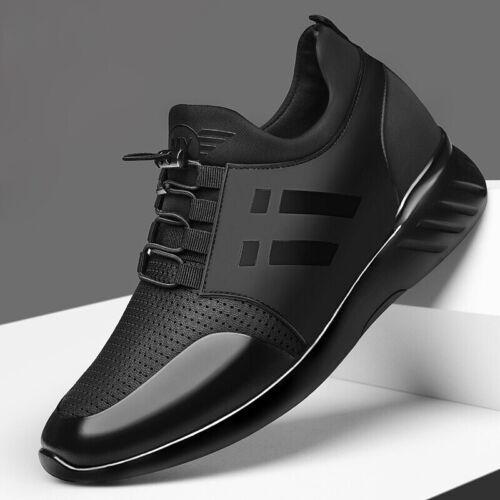 8CM Increasing British Shoes 2020 New Summer Black Casual Sneakers Men/'s 6CM