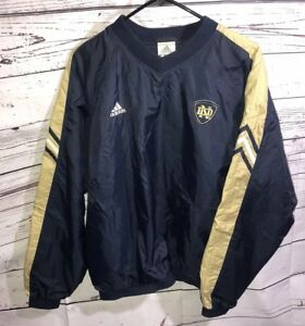 cc83c9c8e492 Image is loading Adidas-Notre-Dame-Fighting-Irish-Mens-Large-Pullover-