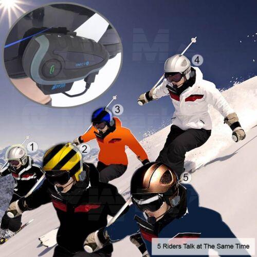 2pcs 1200m V8 BluetoothIntercom Headset Interphone Motorbike Riding for 5 riders