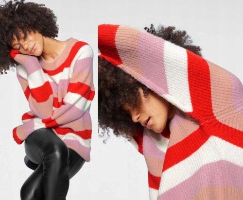 NA-KD Damen Pullover Pulli Streifen Oversize Strick Gestreift 33083845 Gr XS-XL