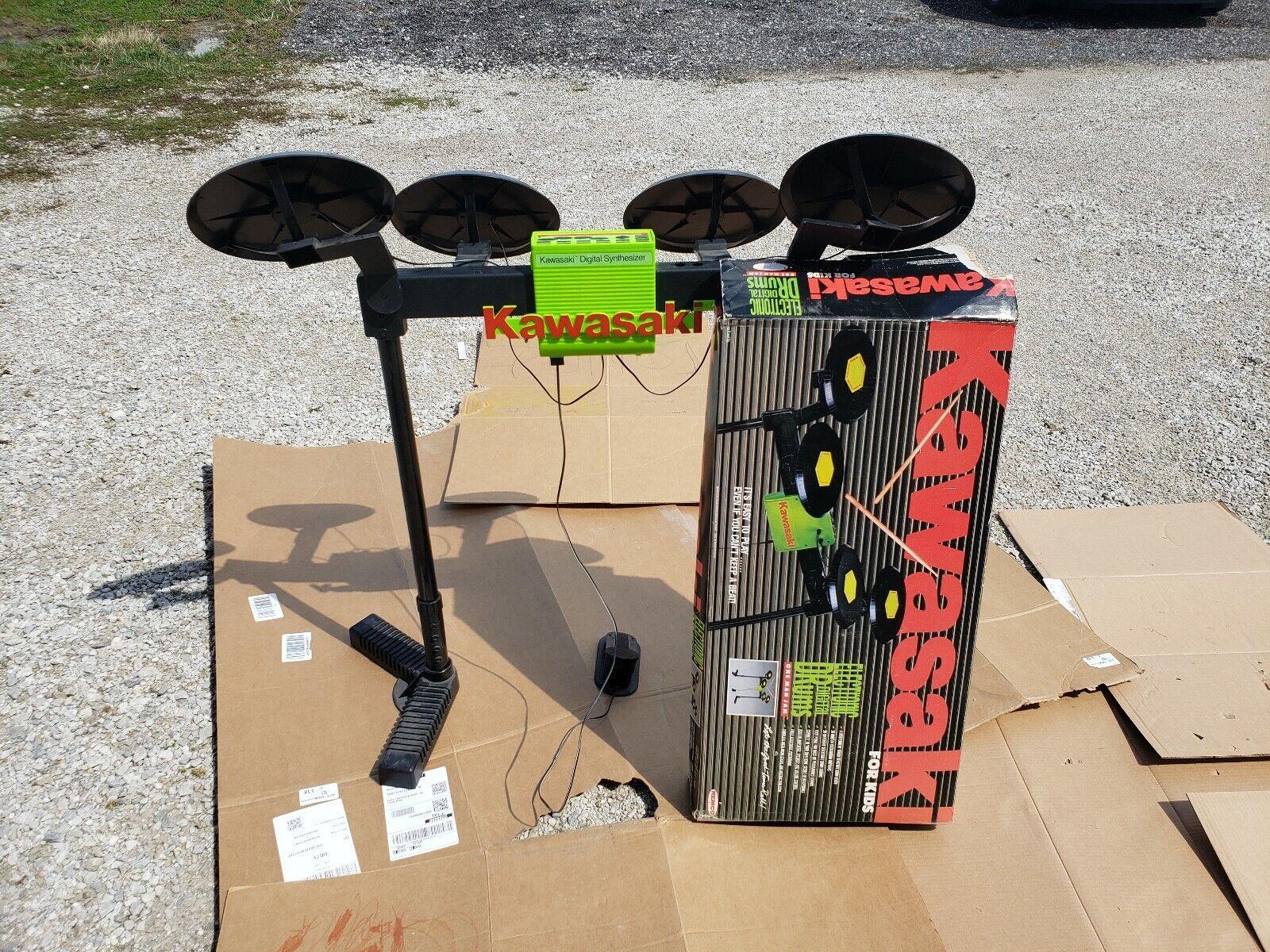 Vintage 1989 Remco Toys Kawasaki Drumset Drumset Drumset working digital midi ee1e4c