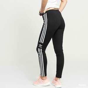 bf0623ea30b98 NEW DV2636 WOMEN ADIDAS 3 STR TREFOIL TIGHT LEGGINGS !! BLACK/WHITE ...