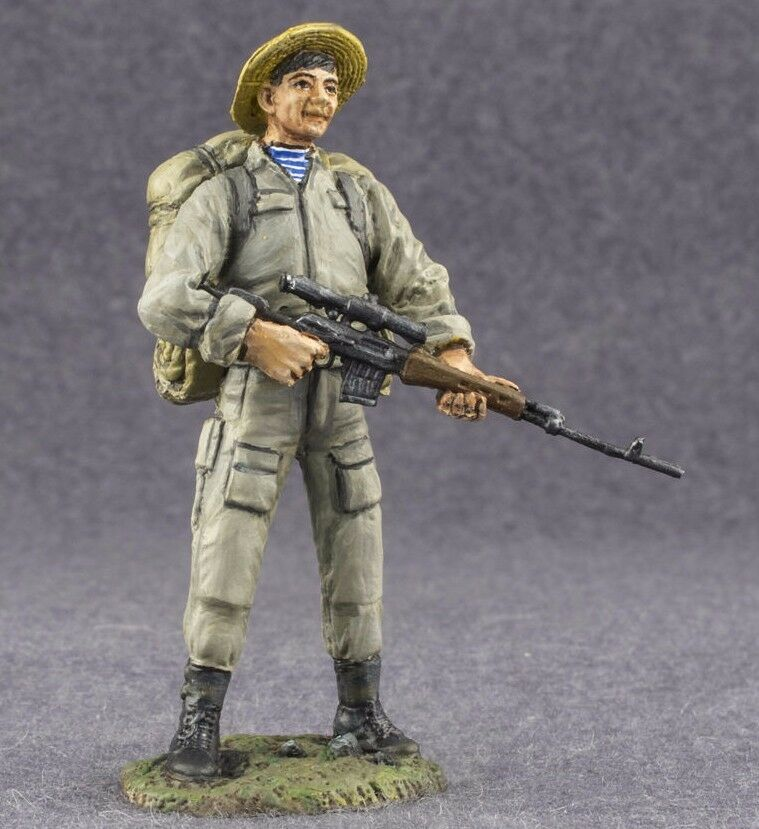 Metal Toy Soldiers Painted USSR Soviet Sniper Commando 1 32 scale Figurine 54mm