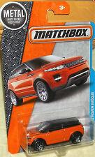 2016 Matchbox #27-125 Orange & Black Range Rover Evoque 4+ diecast Boys & Girls