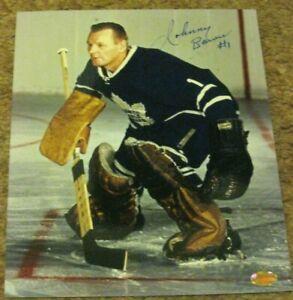 Johnny-Bower-Autographed-Toronto-Maple-Leafs-8X10-Photo-COA