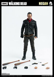 The Walking Dead Negan Jeffrey Dean Morgan Action Figure 1/6 Threezero Sideshow