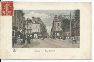 CPA-51-Carte-postale-REIMS-Rue-Carnot-Postcard